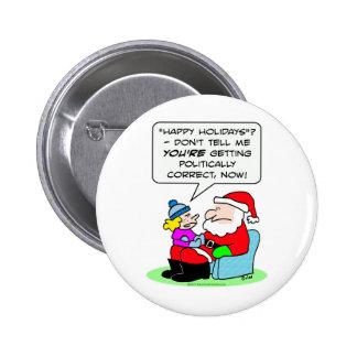 naughty nice politically correct santa claus pin