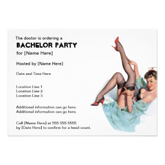 Naughty Nurse Bachelor Party Invites