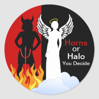 Naughty or Nice Angel Devil Stickers