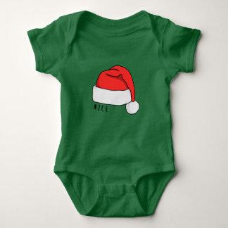 Naughty or Nice Baby Bodysuit - Dark Green
