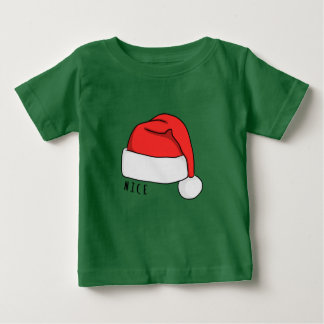 Naughty or Nice Baby T-Shirt - Dark Green