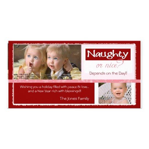 Naughty or Nice   ~   Christmas Card Photo Greeting Card