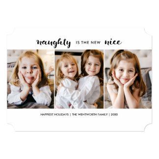 Naughty or Nice Christmas Holiday Flat Card