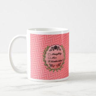 Naughty or nice Christmas mug