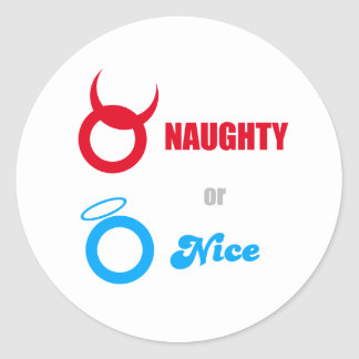 Naughty or Nice? Classic Round Sticker