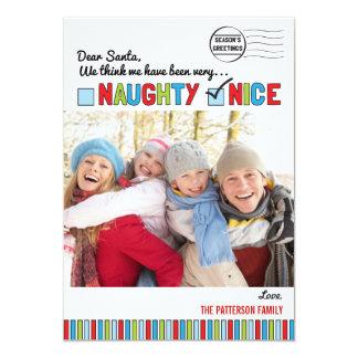 Naughty or Nice Family Christmas Photo Card
