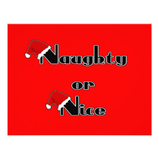 Naughty or Nice Personalized Invitation