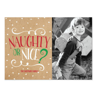 Naughty or Nice Kraft Christmas Card