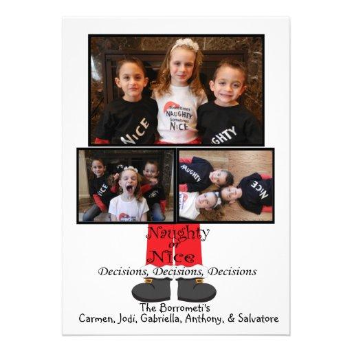 Naughty or Nice Photo Christmas Card