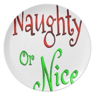 Naughty or Nice Plate