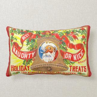 Naughty or Nice Santa Throw Pillow