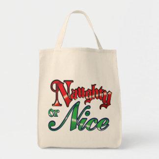 Naughty or Nice Wide Bottom Bag