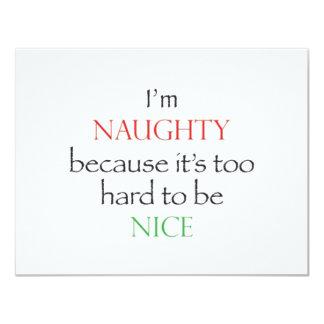Naughty Over Nice 11 Cm X 14 Cm Invitation Card