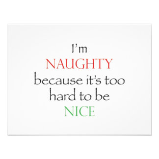 Naughty Over Nice Personalized Invites
