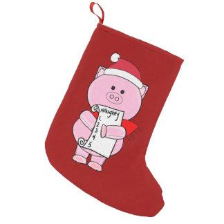 Naughty Piggy Christmas Stocking