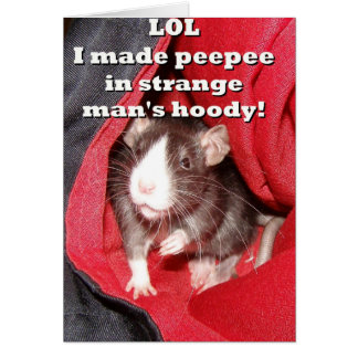 Naughty Rat Card