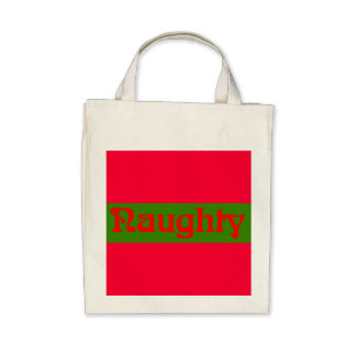 Naughty Red on Green Bag