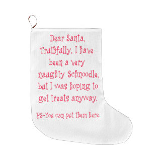 Naughty Schnoodle Large Christmas Stocking