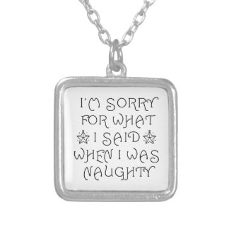Naughty Silver Plated Necklace