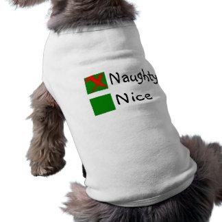 Naughty Sleeveless Dog Shirt