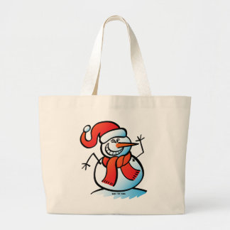 Naughty Snowman Large Tote Bag