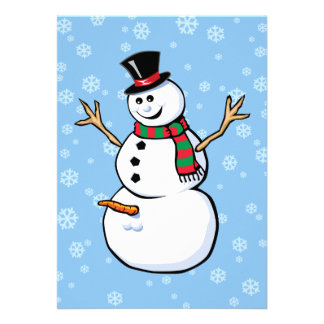 Naughty Snowman Personalized Announcement