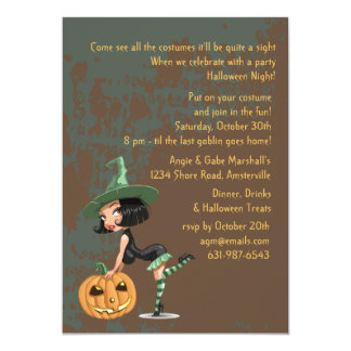 Naughty Witch Invitation