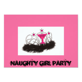 Naughy Girl Party Card
