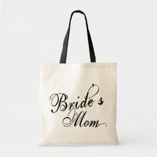 Naughy Grunge Script - Bride's Mom Black Budget Tote Bag