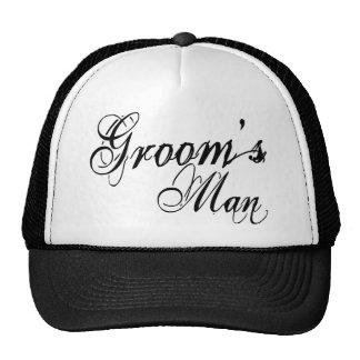 Naughy Grunge Script - Groom's Man Black Cap