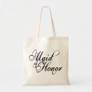 Naughy Grunge Script - Maid Of Honor Black Budget Tote Bag