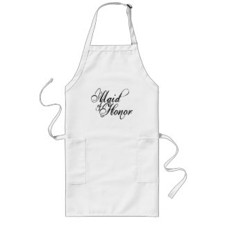 Naughy Grunge Script - Maid Of Honor Black Long Apron