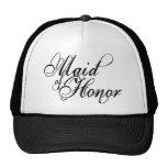 Naughy Grunge Script - Maid Of Honour Black Trucker Hats