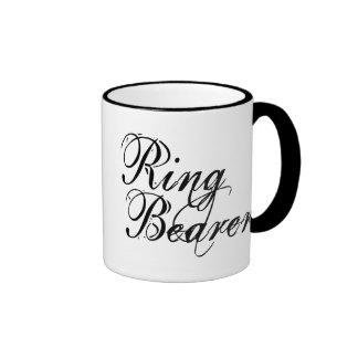 Naughy Grunge Script - Ring Bearer Black Ringer Mug