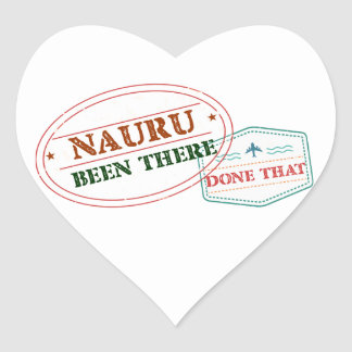 Nauru Been There Done That Heart Sticker