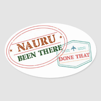 Nauru Been There Done That Oval Sticker