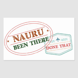 Nauru Been There Done That Rectangular Sticker