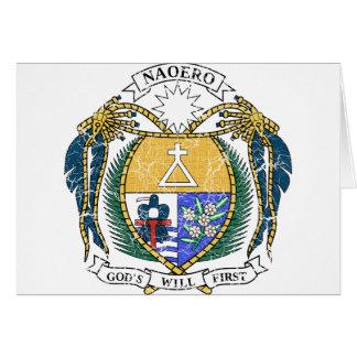 Nauru Coat Of Arms Card