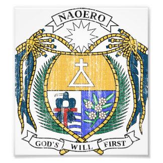 Nauru Coat Of Arms Photo Print
