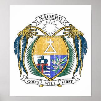 Nauru Coat Of Arms Print