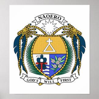 Nauru Coat Of Arms Posters