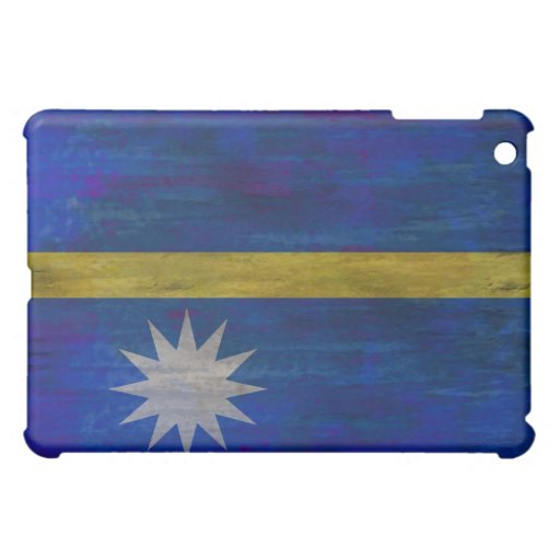 Nauru distressed flag iPad mini cover