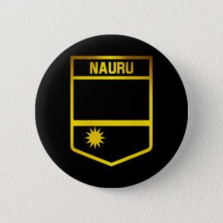 Nauru Emblem 6 Cm Round Badge