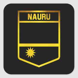 Nauru Emblem Square Sticker