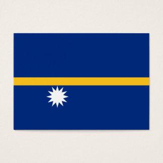 Nauru Flag Business Card