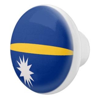 Nauru Flag Ceramic Knob