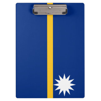 Nauru Flag Clipboard