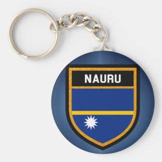Nauru Flag Key Ring