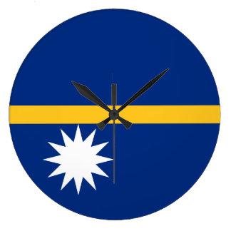 Nauru Flag Large Clock