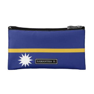 Nauru Flag Makeup Bag